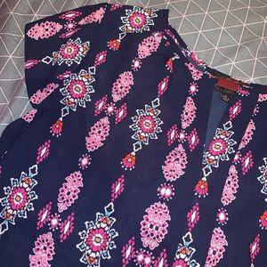 twine & string Tops - Chiffon Floral Boho Print Blouse